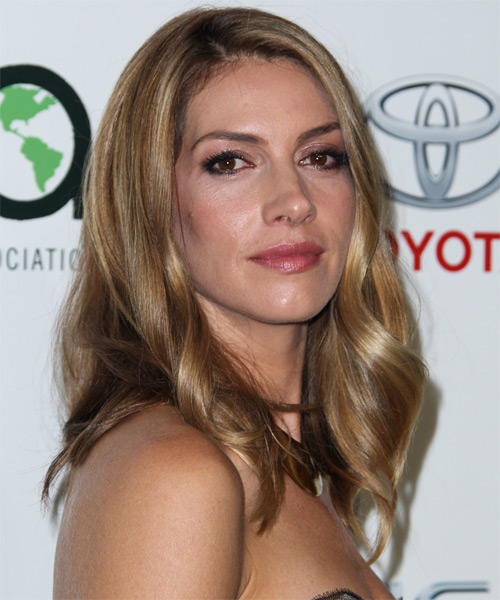 Dawn Olivieri Medium Straight     Hairstyle   - Side on View