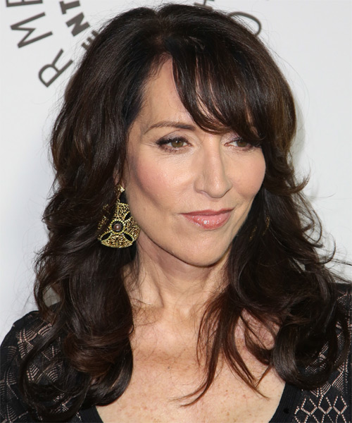 Katey Sagal Long Wavy Formal   Hairstyle   - Side on View