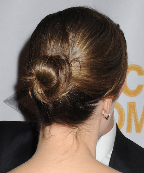 Sophia Bush Updo Long Straight Casual  Updo Hairstyle with Side Swept Bangs  - Medium Brunette - Side on View