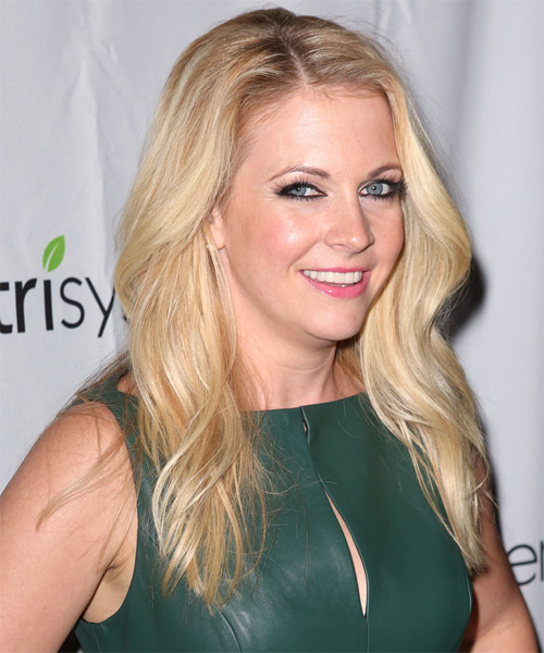 Melissa Joan Hart Long Straight Casual   Hairstyle   - Light Blonde - Side on View