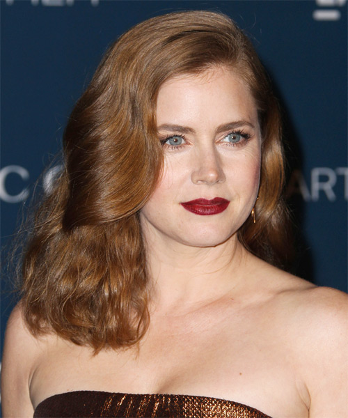 Amy Adams Medium Straight Formal   Hairstyle   - Light Brunette (Chestnut) - Side on View