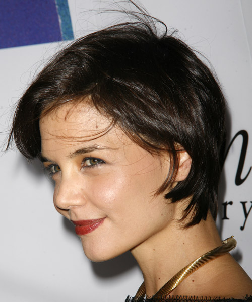 Katie Holmes Short Straight Casual   Hairstyle   - Side on View