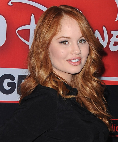 Debby Ryan Long Wavy Casual   Hairstyle   - Medium Red (Auburn) - Side on View
