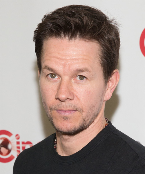 Mark Wahlberg Short Straight Casual   Hairstyle   - Medium Brunette - Side on View