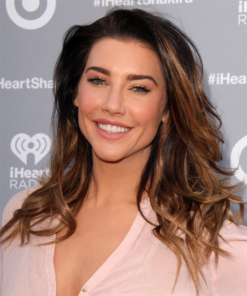 Jacqueline MacInnes Wood Long Straight Casual   Hairstyle   - Dark Brunette - Side on View