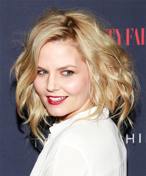 Jennifer Morrison Medium Wavy Casual   Hairstyle   - Medium Blonde (Golden) - Side on View