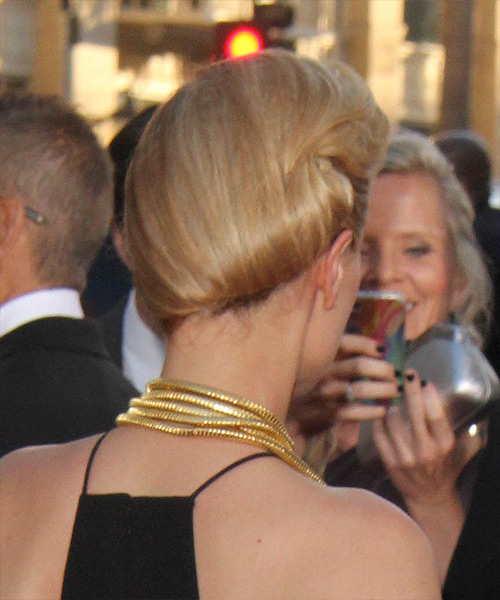 Anna Paquin  Long Straight   Dark Blonde  Updo    - Side on View