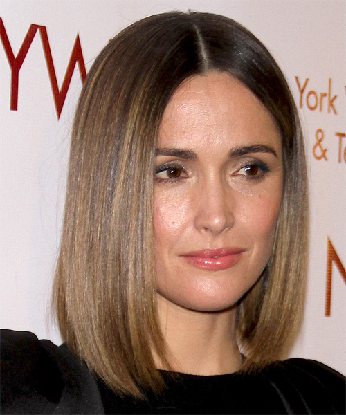 Rose Byrne Medium Straight Formal Bob  Hairstyle   - Medium Brunette (Ash) - Side on View