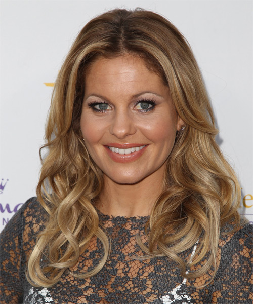 Candace Cameron Bure Long Wavy Casual   Hairstyle   - Dark Blonde - Side on View