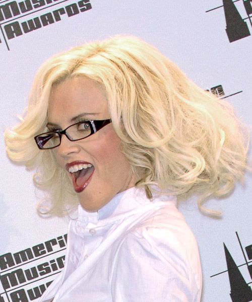 Jenny McCarthy Medium Wavy Formal   Hairstyle   - Side on View