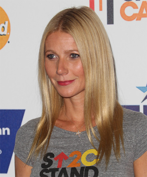 Gwyneth Paltrow Long Straight Formal   Hairstyle   - Dark Blonde (Honey) - Side on View
