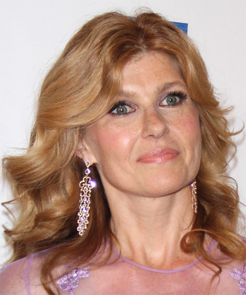 Connie Britton Medium Wavy Formal   Hairstyle   - Light Red (Copper) - Side on View