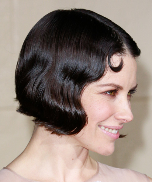 Evangeline Lilly Short Wavy Formal    Hairstyle   - Black  Hair Color - Side View