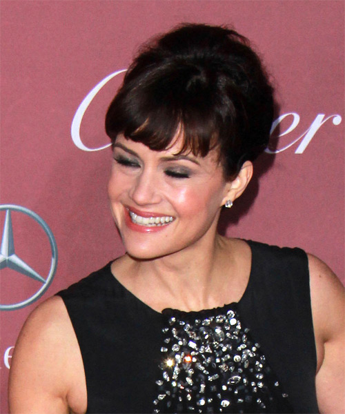 Carla Gugino Long Wavy Formal  Updo Hairstyle   - Side View