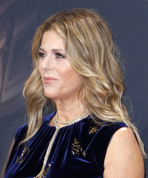 Rita Wilson Long Wavy Casual   Hairstyle   - Dark Blonde - Side View