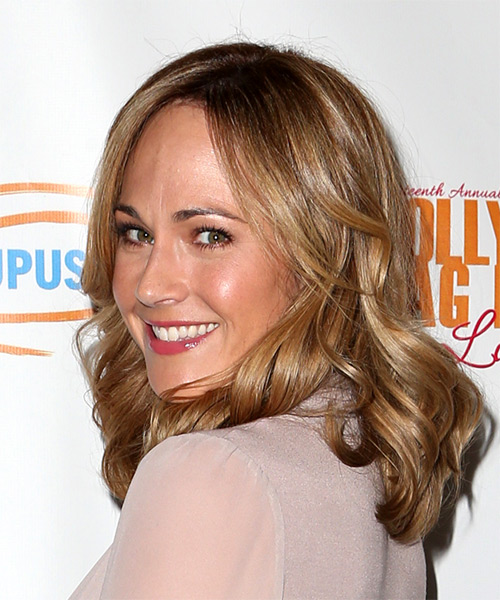 Nikki DeLoach Medium Wavy Casual    Hairstyle   - Light Brunette Hair Color - Side View