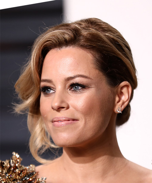 Elizabeth Banks Medium Wavy Formal Wedding Updo Hairstyle   - Dark Blonde - Side View