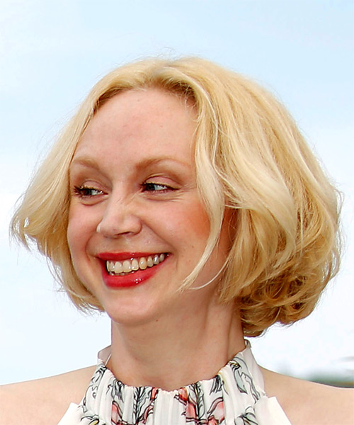 Gwendoline Christie Short Straight Casual  Bob  Hairstyle   - Light Blonde Hair Color - Side View