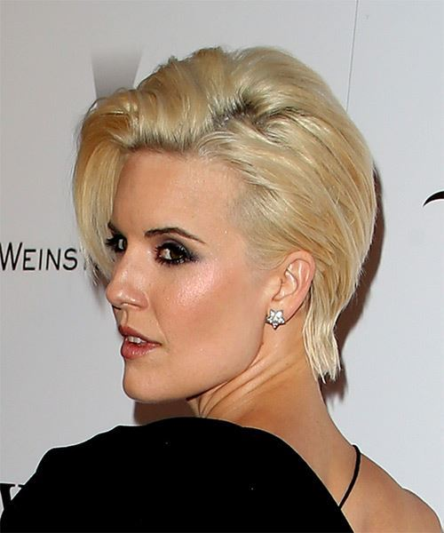 Maggie Grace Short Straight Formal   Hairstyle   - Light Blonde - Side View