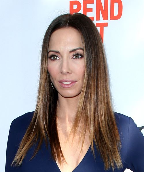 Whitney Cummings Long Straight Casual   Hairstyle   - Light Brunette - Side View