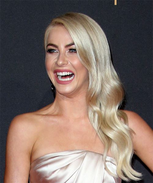 Julianne Hough Long Wavy Formal   Hairstyle   - Light Blonde (Ash) - Side View