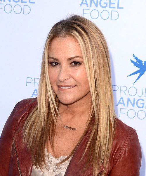 Anastacia Long Straight Casual    Hairstyle   -  Blonde Hair Color - Side View