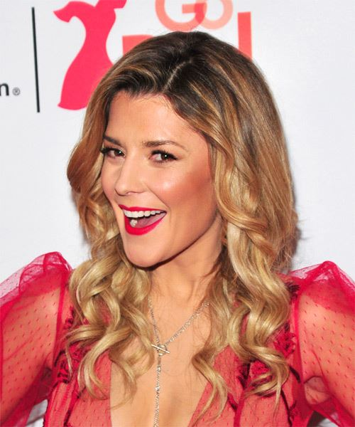 Grace Helbig Long Curly Casual   Hairstyle   - Medium Blonde - Side View