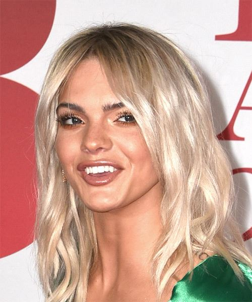 Louisa Johnson Medium Wavy Casual Bob  Hairstyle   - Light Blonde (Ash) - Side View