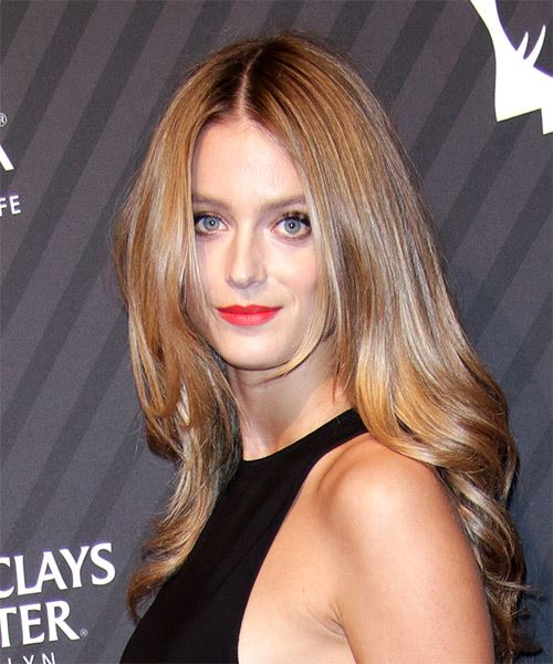 Kate Bock Long Straight   Dark Blonde   Hairstyle   - Side View