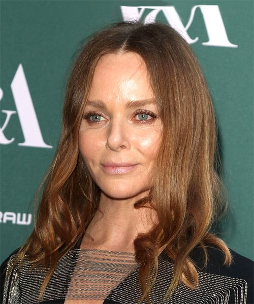 Stella McCartney Long Wavy Casual   Hairstyle   - Light Brunette - Side View