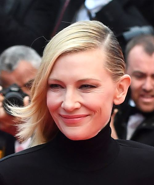 Cate Blanchett Medium Straight Casual Bob  Hairstyle   - Light Blonde - Side View