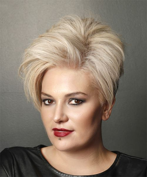 Short Straight Casual  Pixie  Hairstyle   - Light Blonde Hair Color - Side View