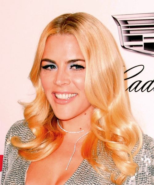 Busy Philipps Long Wavy   Light Blonde   Hairstyle   - Side View
