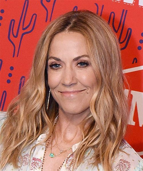 Sheryl Crow Long Wavy    Red   Hairstyle   - Side View