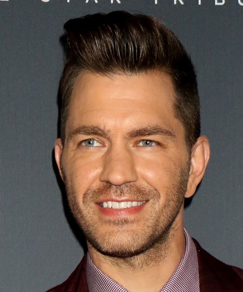 Andy Grammer Short Straight   Black    Hairstyle   - Side View