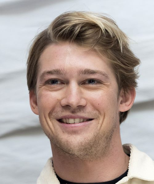 Joe Alwyn Short Straight   Light Brunette   Hairstyle   with Light Blonde Highlights - Side View