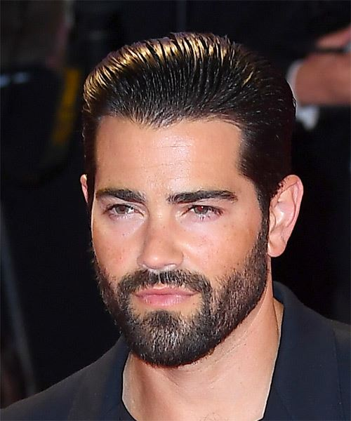 Jesse Metcalfe Short Straight   Black    Hairstyle   - Side View