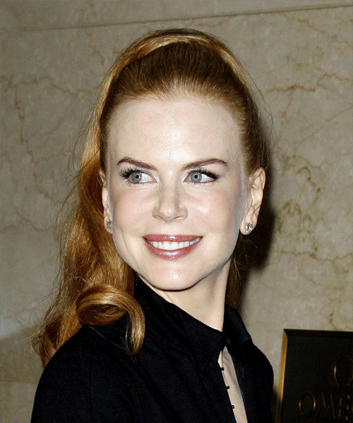 Nicole Kidman  Long Curly Formal   Updo Hairstyle   - Side View
