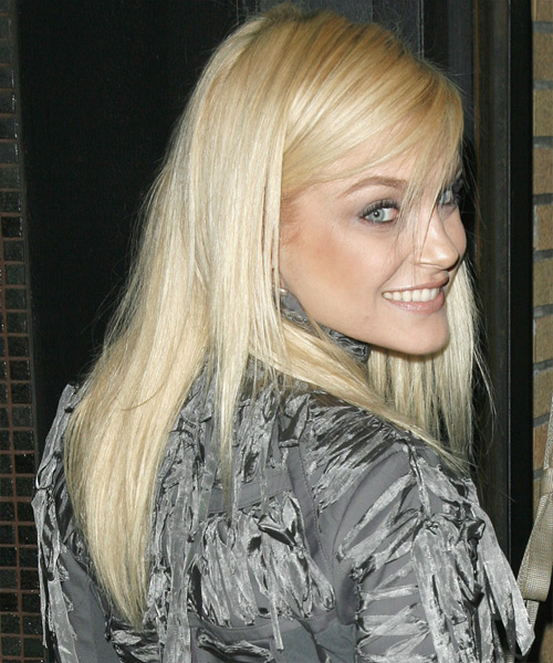 Jessica Stam Long Straight Casual   Hairstyle   - Side View