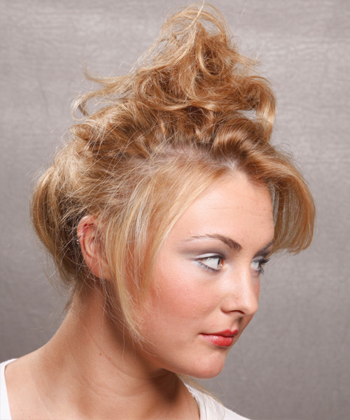 Updo Long Curly Casual  Updo Hairstyle   - Side View