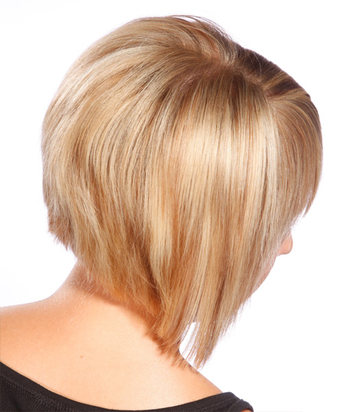 Short Straight Casual    Hairstyle   - Light Honey Blonde Hair Color - Side View