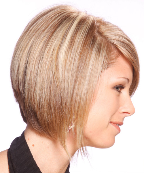 Medium Straight Formal   Hairstyle   - Medium Blonde - Side View