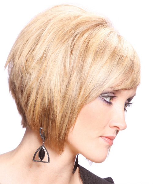 Medium Straight Formal Bob  Hairstyle   - Side View