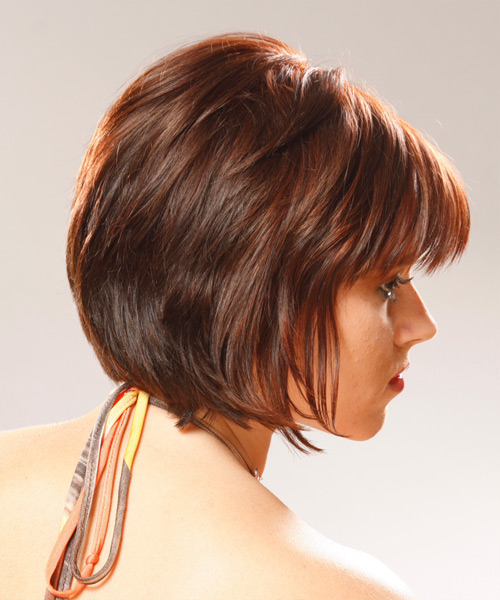 Medium Straight Alternative   Hairstyle   - Side View
