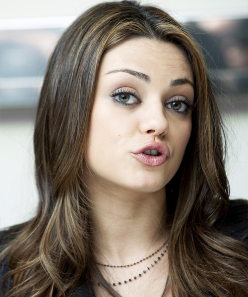 Mila Kunis Long Straight Casual   Hairstyle   - Side View