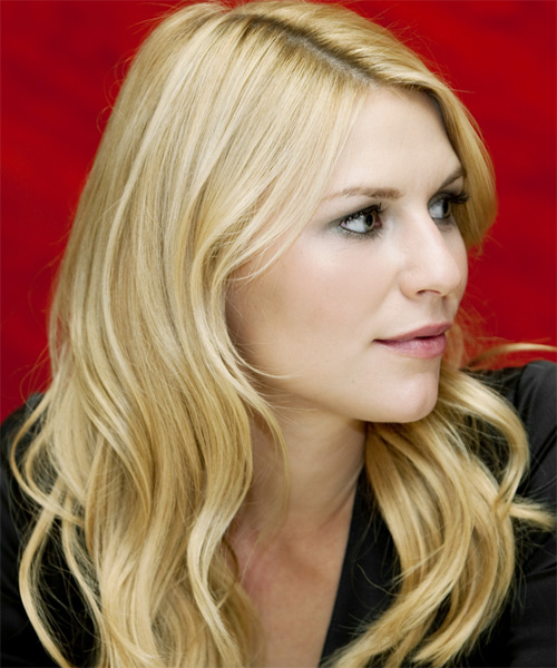 Claire Danes Long Wavy Casual   Hairstyle   - Medium Blonde - Side View