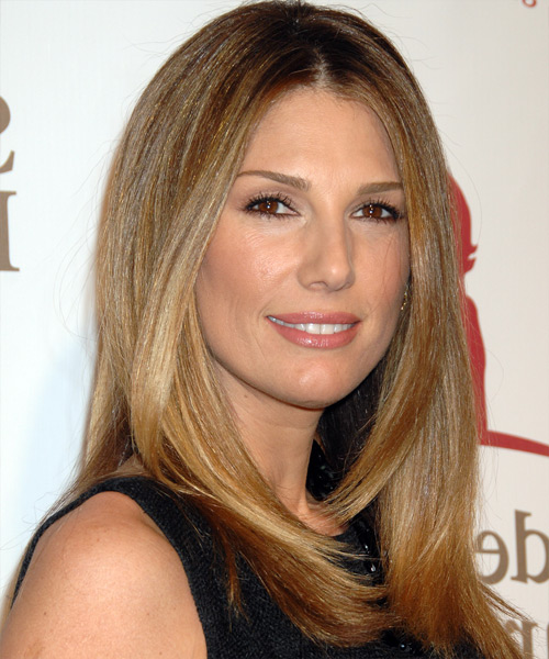 Daisy Fuentes Long Straight Casual   Hairstyle   - Side View