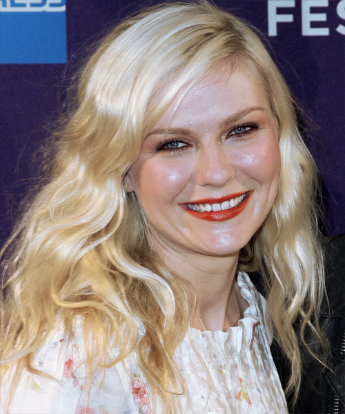 Kirsten Dunst Long Wavy Casual    Hairstyle   - Side View