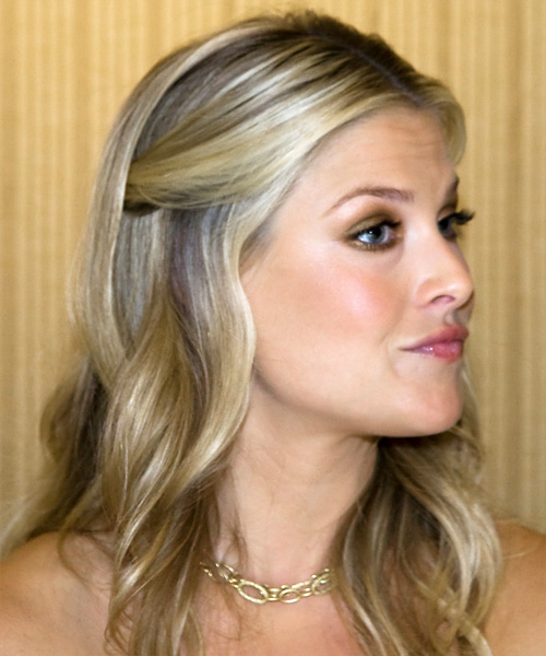 Ali Larter Half Up Long Curly Casual  Half Up Hairstyle   - Side View