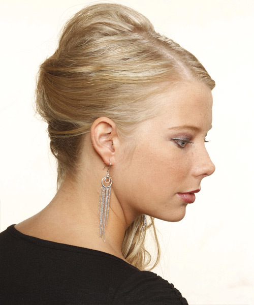 Updo Long Curly Formal  Updo Hairstyle   - Medium Blonde (Champagne) - Side View